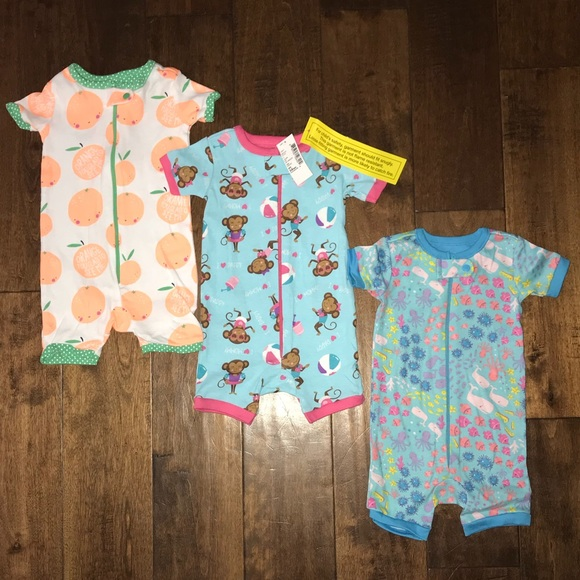 The Childrens Place Baby Girls 3 Piece Stretchie Bundle